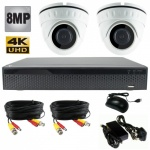 8Mp Dome CCTV System with 2 x Dome Cameras and 1Tb Dvr Recorder